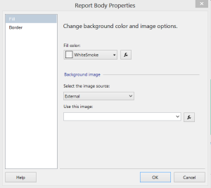 Report Body Properties