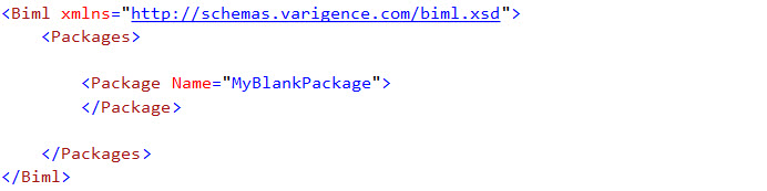 BIML Blank Package
