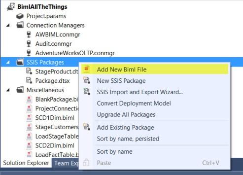 Create New BIML File