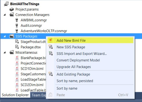 Create New BIML File