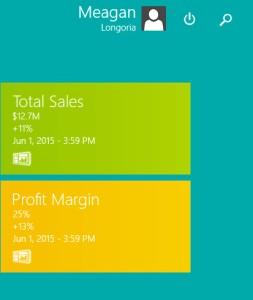 KPI Live Tile