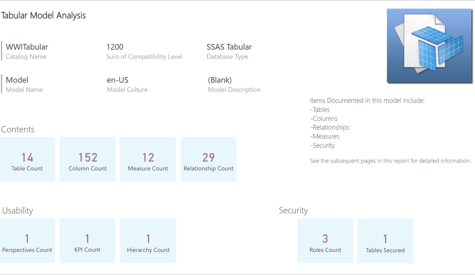 documenting your tabular or power bi model data savvy tabular doc summary