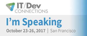 I'm Speaking at IT/Dev Connections 2017
