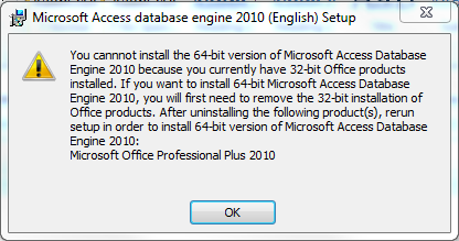 Installing the Microsoft ACE OLEDB 12 0 Provider for Both 64-bit and